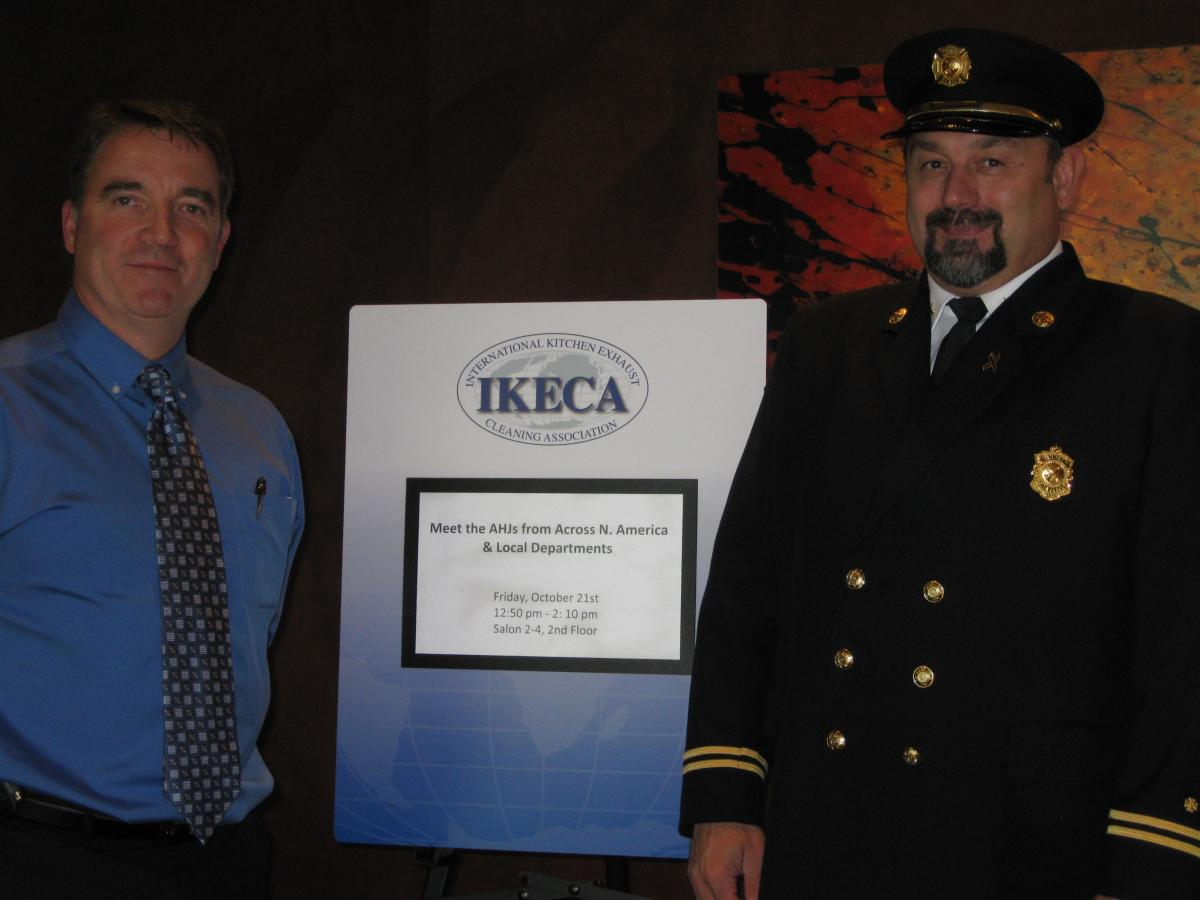 Canadian Chapter President, Bill Doherty and Fire Inspector John Lee, Windsor